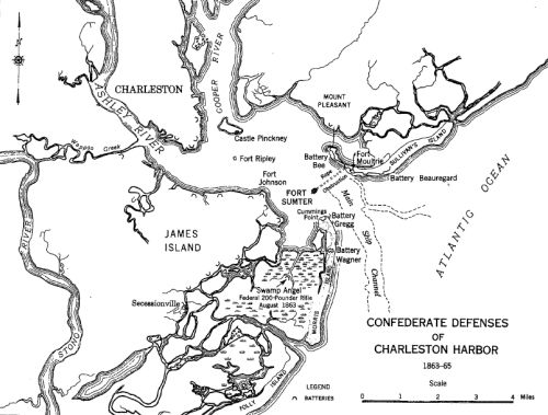 Confederate Defenses of Charleston Harbor from 1863-1865